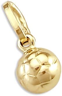 Sonia Jewels 14k Yellow Gold Small Soccer Ball Charm Pendant New