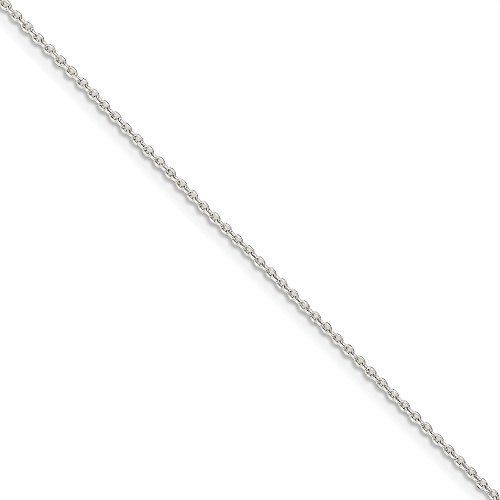 (925 Sterling Silver 1.5mm Link Cable Bracelet Chain 7 Inch Fine Jewelry Gifts For Women For Her)