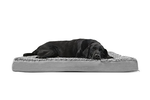 Furhaven Orthopedic Mattress Pet Bed Jumbo Gray (Large Image)