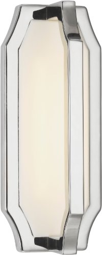 Feiss WB1741PN Audrie LED Swarovski Crystal Wall Sconce, 1-Light, 5 Watt, Polished Nickel (5