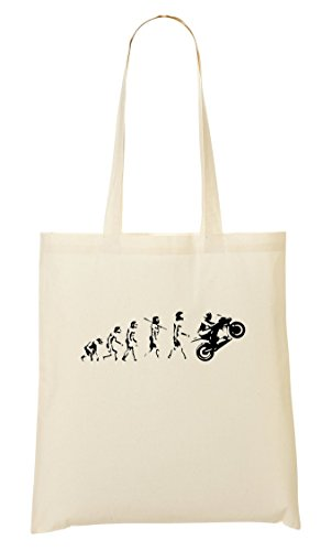 Cp Evolution Of The Motorbike Cool Handbag Shopping Bag