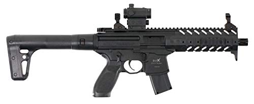 Sig Sauer MPX .177 Cal CO2 Powered SIG20R Red Dot Air Rifle (30 Rounds), - Sauer 9 Sig Mm