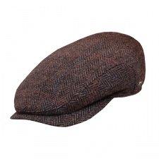 Wigens Hans Ivy Style Harris Tweed Cap with (Fully Lined Tweed Cap)
