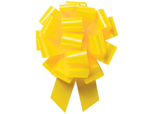 A1BakerySupplies® Gift Wrap Christmas Wedding Gift Wrap Pull Bows Pull String Bows 10 Pack (Yellow Daffodil, 4 Inch)