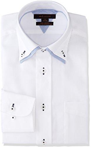 シビック魔術ホステス[タカキュー] m.f.editorial 形態安定 レギュラーフィット 2枚衿ドゥエボタンダウンシャツ メンズ 110214619777833