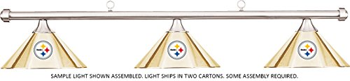 Imperial NFL Pittsburgh Steelers Brass Metal Shade/Chrome Bar Billiard Pool Table Light