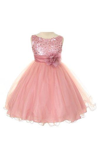 dusty rose color wedding dress - 1
