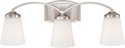 Minka Lavery Wall Light Fixtures 6963-84 Overland Park Glass Bath Vanity Lighting, 3 Light, - Three Vanity Light Park