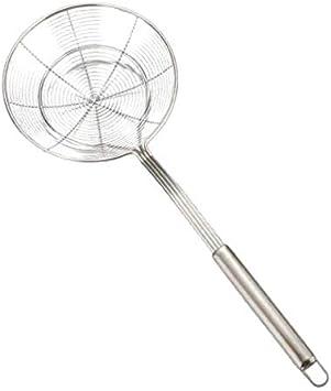 14 cm Baoblaze Edelstahl Abseihl/öffel Sch/öpfl/öffel Schauml/öffel zum Kochen und Frittieren