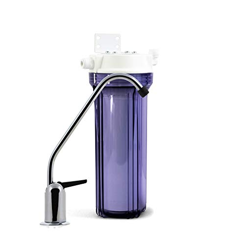 Propur Under Counter Drinking Water Filtration System - Removes 200+ Contaminants Including Fluoride, Lead, Chlorine, Microplastics - Includes 1 ProMax Filter Element - Use in Your Home or Office. (Propur Water Filtration)