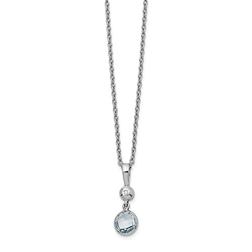 925 Sterling Silver Blue Topaz Diamond Chain Necklace Pendant Charm Fancy Gemstone Fine Jewelry Gifts For Women For Her