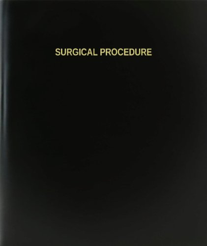 BookFactory® Surgical Procedure Log Book / Journal / Logbook - 120 Page, 8.5''x11'', Black Hardbound (XLog-120-7CS-A-L-Black(Surgical Procedure Log Book)) by BookFactory