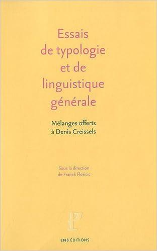En ligne téléchargement Essais de linguistique générale et de typologie linguistique epub pdf