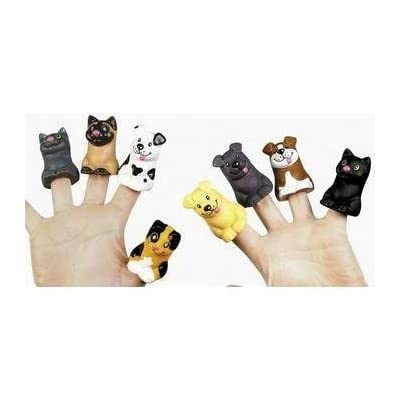 CAT/DOG FINGER PUPPETS - Toys - 24 Pieces: Toys & Games