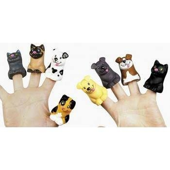 Two Dozen Cat and Dog Finger Puppets (1-Pack of 24) FE