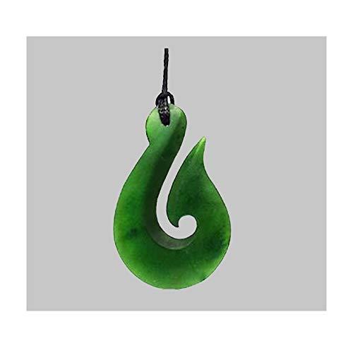 Maori Green Stone - Genuine New Zealand Made Greenstone Maori Hook Necklace | 5/8