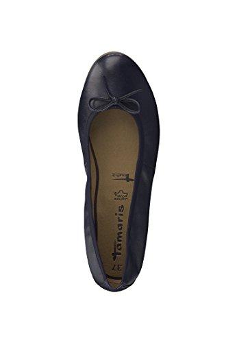 22116 Ballerine Cuir Dames Sole It 20 avec Touch en 898 Marine Cuir Tamaris en Bleu 1 fP5q0w0