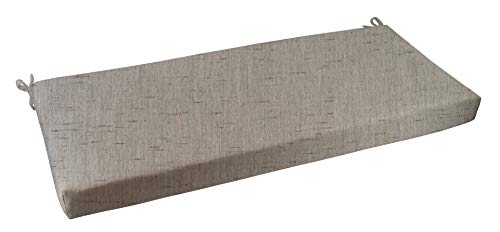 RSH Décor Indoor/Outdoor Bench Cushion Made from Premium Sunbrella Frequency Ash Fabric - 2