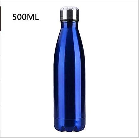 bleu AEX 500 ml Isolé Bouteille D/'Eau-isolation sous vide en acier inoxydable