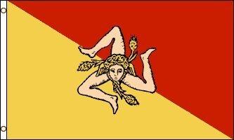 3'x5' SICILIAN FLAG of SICILY, Italy Italian