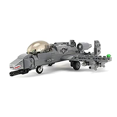 Battle Brick Basic A-10 Warthog Thunderbolt Air Force Custom Set: Toys & Games