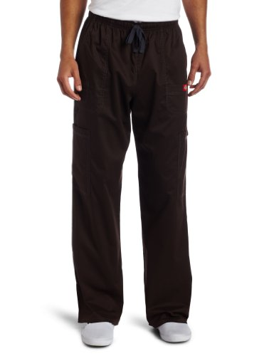 Dickies Men's Plus Size GenFlex Utility Drawstring Cargo Scrubs Pant, Chocolate, XXXXX-Large