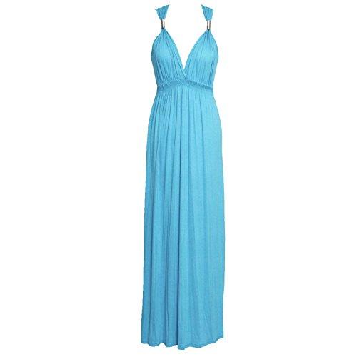 Ahr® Ahr® Femme Ahr® Robe Robe Uni Femme Turquoise Robe Uni Uni Femme Turquoise wwqO4CS