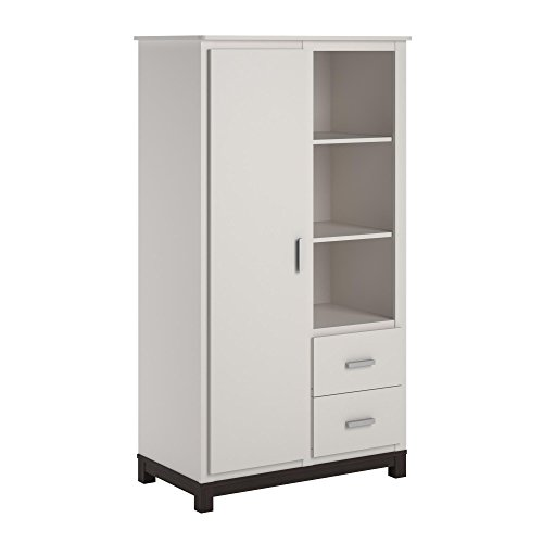 Cosco Kids Furniture Leni Armoire, White and Coffee House Plank by Cosco Kids Furniture