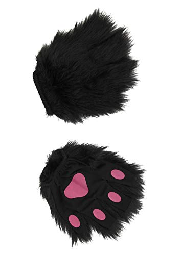 Toddler Black Dog Costumes - elope Fingerless Costume Black and Pink