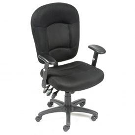 Multifunction Task Chair, Breathable Mesh Fabric, Black ()