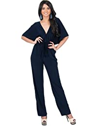 Womens Short Kimono Sleeve One Piece Jumpsuit Cocktail...