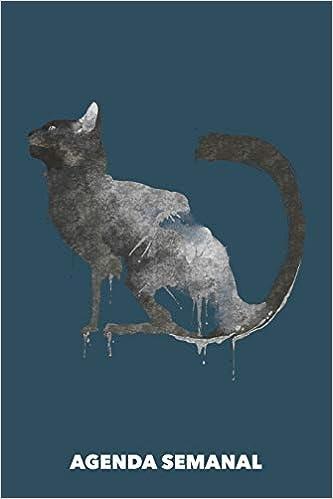 Agenda Semanal: Gato Negro A5 manuscrito floral - Cuaderno ...