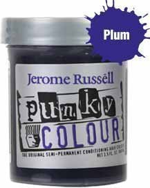 Jerome Russell Punky Colour Semi-Permanent Conditioning Hair Color, Plum 3.5 oz (Dark And Lovely Go Intense Passion Plum)