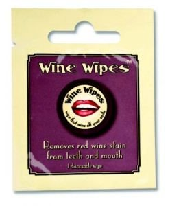 "Wine Wipes Single Packs (12 Individual Pack), 2"", White"