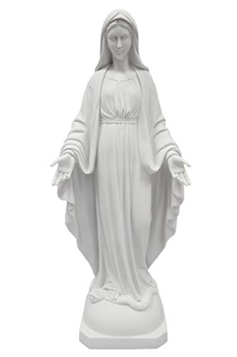 (Vittoria Collection 23.5 Inch Our Lady of Grace Italian Statue Sculpture Figurine Made in Italy Indoor Outdoor Garden )