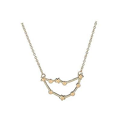 d7920996da96 Capricornio colgante del zodiaco colgante collar constelación zodíaco  Capricornio collar regalo de cumpleaños  Amazon.es  Joyería