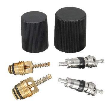 SumoTik AC A/C System And Air Valve Cores Seal Kit Air Conditioning Service - Car Repair & Maintenance Car Maintenance Hardware Accessories