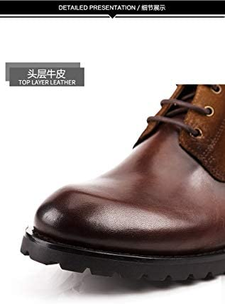 SMSZ Stivali da Uomo di Alta Cima Handmade Chelsea Scamosciati Stivali di Pelle Britannico retrò Stivali di Pelle da Uomo in Pelle (Color : Black, Size : 44-EU)
