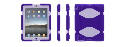 Griffin Survivor Extreme-Duty Military Case for iPad 4/3/2, Purple/Lavender (GB35452)