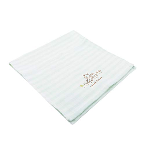 Price comparison product image HENGSONG Cotton Absorbent Baby Saliva Towel Wash Face Towel Thicken Children's Reusable Towel Face Wipes Handkerchief, Green