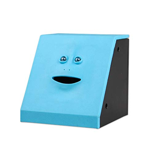 AYUNYUN Human Face Piggy Bank Intelligent Sensor Open Mouth Eating Money Box Saving Bank ()