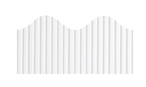 PAC37016 - Pacon Bordette Decorative Border, White - 2.25 Inch x 50 Ft