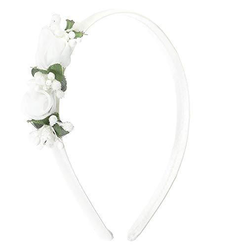 seleziona per genuino grande sconto ultima selezione del 2019 Cerchietto per cerimonia bambina bianco con fiori-Fatto a ...