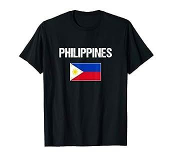 Amazon.com: Camiseta de Filipinas con bandera filipina para ...