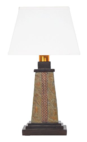 Torch Light DS913B Deluxe Slate Wicker Wireless All-Weather Table Lamp