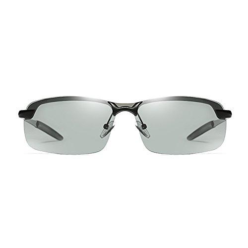Lunettes de UV soleil Men's MAHZONG Couleur Noir soleil Lunettes Sunglasses de Gris Polarized 5zxIwYw06q