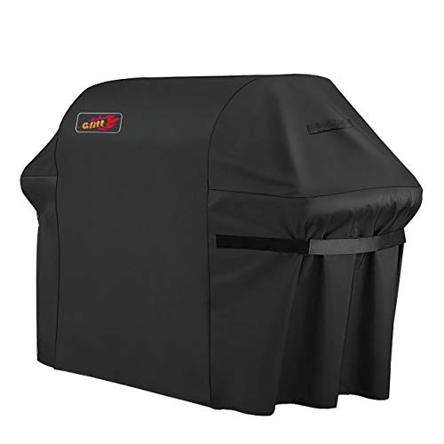 VicTsing Grill Cover, 60-Inch Waterproof BBQ Cover, 600D Heavy Duty Gas Grill Cover for weber,Brinkmann, Char Broil, Holland and Jenn Air(UV & Dust & Water Resistant, Weather Resistant, Rip Resistant)
