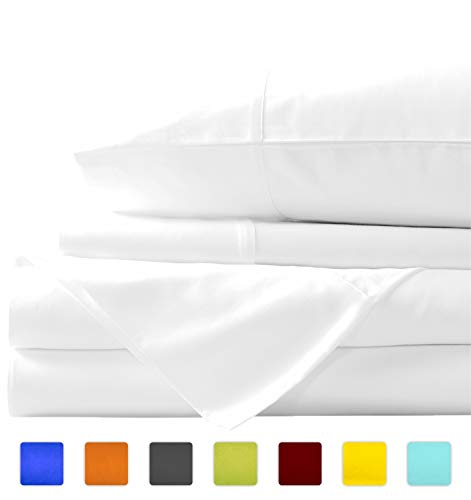 Linen Shoppe Luxurious Bedding Collection 100% Organic Cotton Sheet Set 800 Thread Count Ultra Soft Durable Sheet with 19
