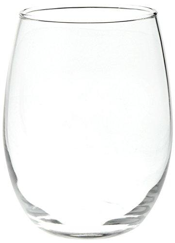 AmazonBasics Stemless Wine Glasses, 15-Ounce, Set of 4