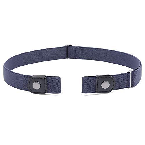 Buckle Free Women Stretch Belt Plus Size No Buckle/Show Invisible Belt for Jeans Pants Dresses (Stretch Patent Buckle Belt)